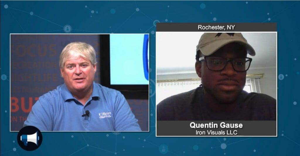 "BluHorn TV – ""5 Minutes With""  Quentin Gause from Iron Visuals LLC"