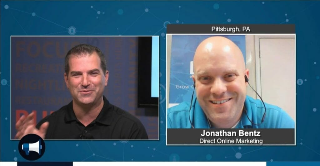 """BluHorn TV – """"5 Minutes With""""  Jonathan Bentz with Direct Online Marketing"""