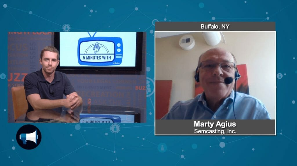 """5 Minutes With""  Marty Agius from Semcasting Inc."
