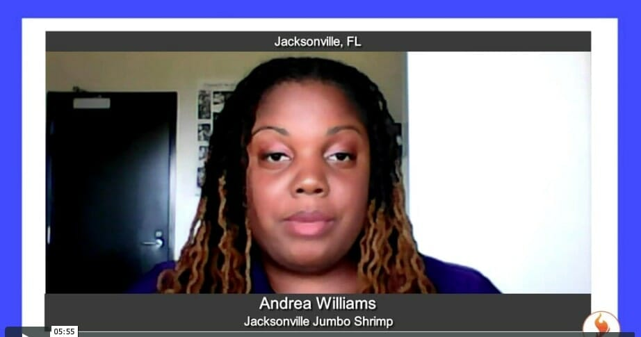 """""""Ignite Success"""" with Andrea Williams from Jacksonville Jumbo Shrimp"""