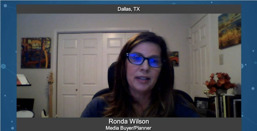 """Marketing for Your Future"" with Ronda Wilson, Media Buyer/Planner"