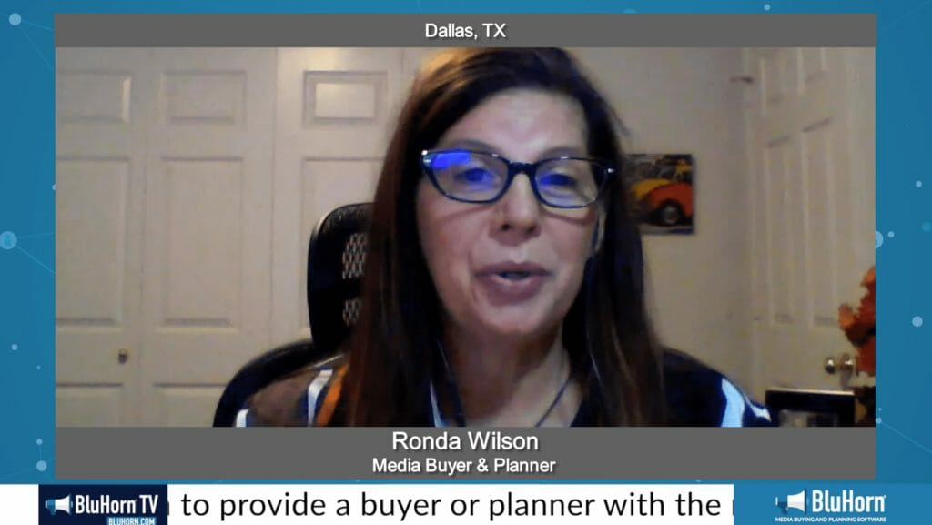"""Making a Difference"" with Ronda Wilson, Media Buyer & Planner"